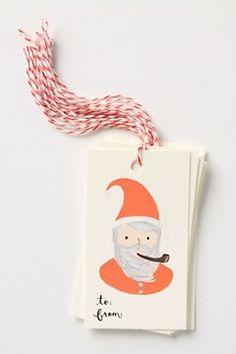 santa gift tags. too cute!