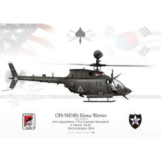"""OH-58D(R) """"Kiowa Warrior"""" JP-1791B Reference:  JP-1791B Condition:  New product  UNITED STATES ARMY 6th Squadron, 17th Cavalry Regiment, A Troop """"ACES"""" South Korea, 2014"""