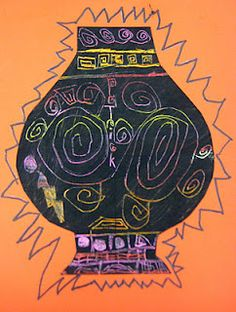 Greek Vases: Scratch Art