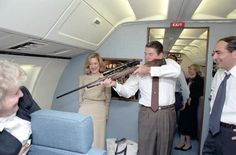 History In Pictures @HistoryInPics  Ronald Reagan having a laugh on Air Force One in 1983