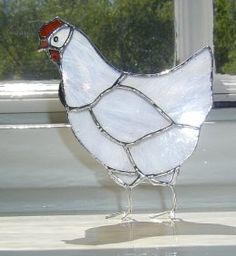 Standing White Chicken