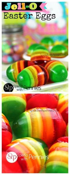 Jello Easter Eggs! Here is something you might like to do with your kids for Easter!!! Looks fun!!