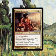 ManaTapped.com is your source for great Magic the Gathering Giveaways! Stop by today to win your copy of Anax and Cymede, an MTG rare from the Theros set.