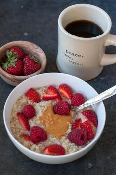 easy overnight hot quinoa and steel cut oats