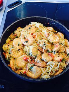 Paella, Seafood Recipes, Parmesan, Shrimp, Spaghetti, Fish, Meat, Cooking, Ethnic Recipes