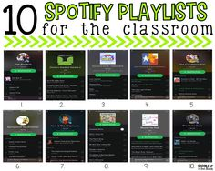 Do use Spotify? I've shared my top 10 playlists that every classroom needs. They are clean, kid friendly, and enjoyable.