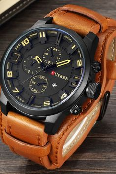 Cool Watches: Buy Online relogio masculino CURREN Watch Men Military Quartz Watch Mens Watches Top Brand Luxury Leather Sports Wristwatch Date Clock 8225 Sport Watches, Cool Watches, Casual Watches, Trendy Watches, Wrist Watches, Male Watches, Analog Watches, Women's Watches, Watches Online