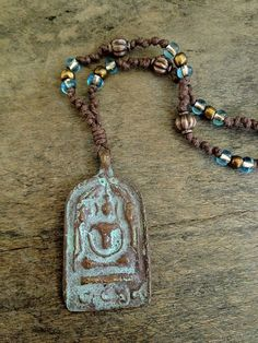 Copper Tibetan Amulet Bohemian Knotted Necklace