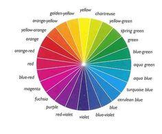 Colour wheel guide to choosing flower colour scheme in the gargen.