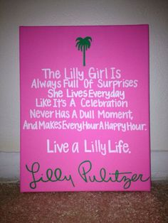 Colorful Lilly Pulitzer Sorority Canvas by EmilysSororityCrafts, $15.00 pinfashionblog