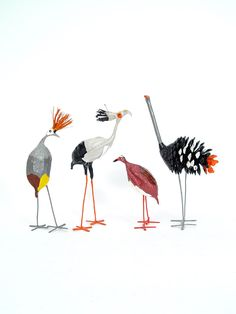New African Birds in Seedpod Range from Mbare. Mbare recently introduced four new African birds to our popular seedpod collection, which now gives you ten handmade and recycled seedpod birds to choose from! The Crowned Crane, Crowned Plover, Secretary Bird, and Ostrich (the Ostrich is made from pine cones) are must-have additions to your set. We want to give you a little more information about Raina Mazwiembiri, the artist who creates them for us.