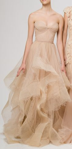 More nude. Reem Acra Resort 2013. I just get swept away in it all.... #fashion #editorial