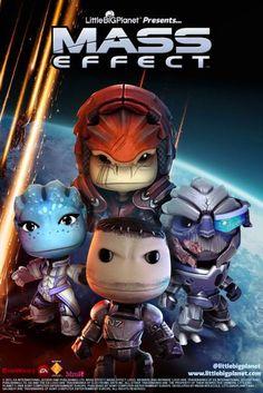 Mass Effect Little Big Planet Pack Little Big Planet, Tales From The Borderlands, Mass Effect Universe, Commander Shepard, Geek Games, Big Plants, Cute Games, My Favorite Image, Video Game Art