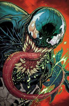 Venom by Jonboy Meyers Marvel Comics – Anime Characters Epic fails and comic Marvel Univerce Characters image ideas tips Venom Comics, Marvel Venom, Marvel Villains, Marvel Comics Art, Marvel Characters, Rogue Comics, Flash Comics, Comic Superheroes, Comic Books Art