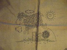 free rug hooking patterns   Details about Rug Hooking Hooked Rug Pattern Jumping Sheep