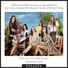 É amanhã!!!!! ♡  Não percam o lançamento da nova coleção Primavera/Verão 2015 da Fillity.   Amanhã em todas as lojas!!!   Venham brindar conosco, esperamos vocês!   #fillity #verao2015 #fillityverao2015 #verao2015fillity