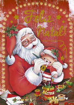 Christmas Cards, Christmas Trees, Decoupage, Disney Characters, Fictional Characters, Santa, Kids Rugs, Country, Disney Princess