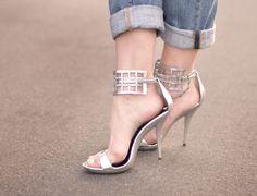 silver strappy sandals DIY by ...love Maegan, via Flickr