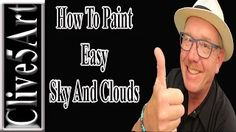 Simple Clouds, Acrylic painting for beginners - YouTube