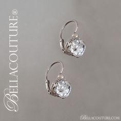 BELLA COUTURE ® - SALE PENDING! - (ANTIQUE) Rare French Rose Cushion Cut 2ct Diamond Paste Victorian Fleur De Lis Sterling Silver Earrings Circa 1700s - early 1800s Fine Jewelry, $295.00 (http://www.bellacouture.com/sale-pending-antique-rare-french-rose-cushion-cut-2ct-diamond-paste-victorian-fleur-de-lis-sterling-silver-earrings-circa-1700s-early-1800s-fine-jewelry/)