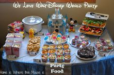 What?! A Disney-World-themed birthday party, complete with homemade versions of all the famous WDW food! This would be perfect for Carter's 3rd birthday party, the week after we get back from the Polynesian Resort!!!
