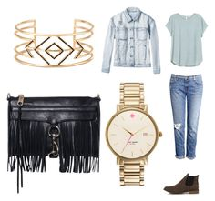 """""""Street Style"""" by amaiyacrissfollowsback ❤ liked on Polyvore featuring Akira Black Label, J Brand, H&M, RVCA, Kate Spade, Stella & Dot, Rebecca Minkoff, women's clothing, women and female"""
