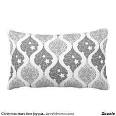 Sold #Christmas #stars #joy #pattern #pillows Available in different products. Check more at www.zazzle.com/celebrationideas