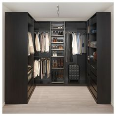 PAX Corner wardrobe – black-brown – IKEA Source by rinnoroni Next Previous Corner Dining Bench Small Kitchen Table With Corner…Home Story Ikea pax wardrobe Walk In Closet Design, Bedroom Closet Design, Master Bedroom Closet, Closet Designs, Bathroom Closet, Small Walk In Closet Ideas, Walk In Closet Small, Ikea Bedroom, Bedroom Black
