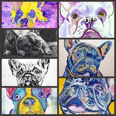 French bulldog art buy here: #dogs #art #xmasgift #frenchie #frenchbulldog… visit oscarjetson.com to see cool dog art oscarjetson.com
