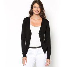 La Redoute black Long-Sleeved V-Neck Cardigan