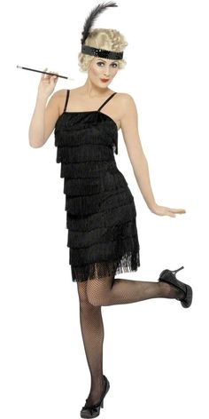 Wicked Costumes Ltd Fancy Dress Costume Flapper Charleston Ladies (Women Black) - 5055294825247 Flapper Girls, Flapper Girl Costumes, Flapper Outfit, Fringe Flapper Dress, Flapper Dresses, 1920s Dress, Fringe Dress, Vestido Charleston, Costume Charleston
