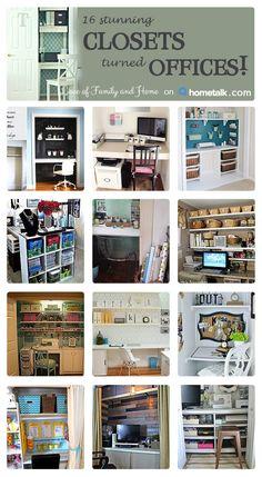 '16 Stunning Closets turned Offices...!' (via Hometalk)