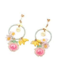 Michu coquette(ミチュ コケット)通販  vintage flowerのフープピアス(MNT)