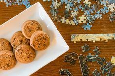 Puzzles and Goodman Gluten Free cookies are great ways to pass the time. Dairy Free Appetizers, Dairy Free Snacks, Gluten Free Cookies, Toddler Snacks, Quick Snacks, School Snacks, Party Snacks, Healthy Kids, Puzzles