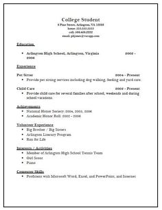 Image Result For Undergraduate College Resume Examples Resume