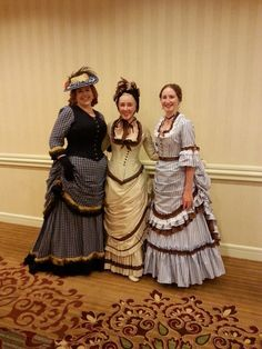American Duchess: Costume College 2014: bustle dresses (looks like one 1880s and two 1870s)