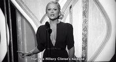 Amy's reaction after Bill Clinton showed up: The 16 Best Tina Fey And Amy Poehler Moments From The Golden Globes Admire Quotes, Eminem Memes, Northern Girls, Feminist Men, Madam President, Amy Poehler, Tina Fey, Powerful Women, The Funny