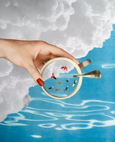 HAVE A MOOD MORNING#collage #artwork #diy #surrealism #collagist #contemporary #art #melody_a_dit #cloud #coffee #analog