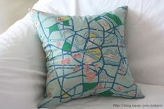 Berlin Map Illustrated Cushion Cover - Mint