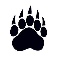 Size: x Description: Here is a black Bear Paw Print Temporary Tattoo for anyone having a bear mascot for school, summer camp, or for use at zoos. Simbolos Tattoo, Claw Tattoo, Tiny Tattoo, Tattoo Flash, Small Tattoos, Bear Paw Tattoos, Grizzly Bear Tattoos, Paw Print Art, Bear Paw Print