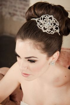 ELLE Hair Accessories Wedding Headband Bridal --Rhinestone & Crystal Headband for Wedding from Camilla Christine