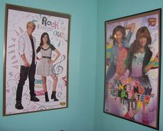 I love Disney shows and their stars...now, I have them on my wall!