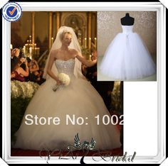 RSW382 Strapless Puffy Big Tulle Skirt Bling Ball Gown Wedding Dress With Sweetheart Neckline $236.00 - 266.00