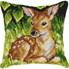 Appealing cushion front kits worked in cross stitches on painted canvas, these striking designs will add a delightful accent to your home interior. Yo...