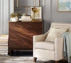 Pottery Barn   Everly Upholstered Armchair