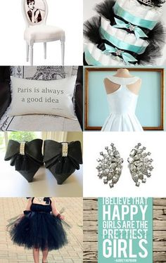 Audrey Hepburn Fashion and ll that made Breakfast at Tiffany's the iconic movie of the 60s--Pinned with TreasuryPin.com