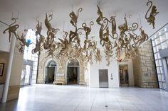 Cardboard monkeys by James Grashow via My Modern Met