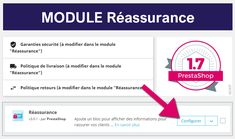 Modifier le module PrestaShop 1.7 reassurance #prestashop #ecommerce #developpeurprestashop #prestashop17 Front Office, Module, Good Things, Software