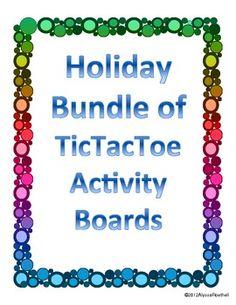 Holiday TicTacToe Choice Board Bundle