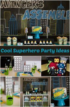 Avengers Superhero Party Ideas for Boy www.spaceshipsandlaserbeams.com